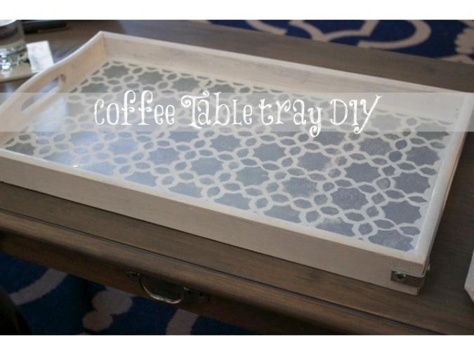 Coffee Table Tray DIY